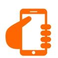 imagem de uma mão segurando um smartphone