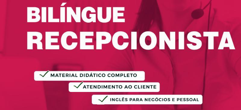 Imagem curso CURSO DE RECEPCIONISTA BILÍNGUE